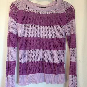 Purple Knit Long Sleeve Sweater