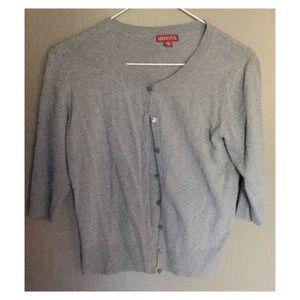Gray Merona 3/4 Sleeve Cardigan