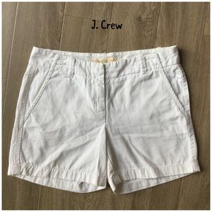 J. Crew white city fit chino cotton shorts size 2