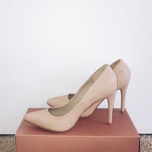 Nude express heels