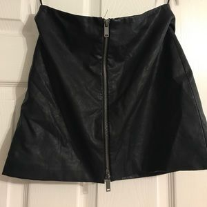 ZARA MINI LEATHER SKIRT