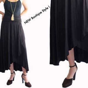 Dresses & Skirts - Waterfall Knit Maxi, foldover waist. NEW!