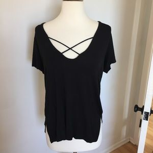 Forever 21 Black Oversized Strappy Top A64
