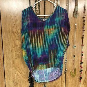 Multicolor tunic top