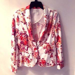 Lauren Conrad Chic Floral Blazer
