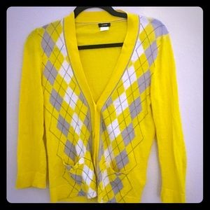 Vintage J.Crew Argyle Cotton Sweater. Sz S