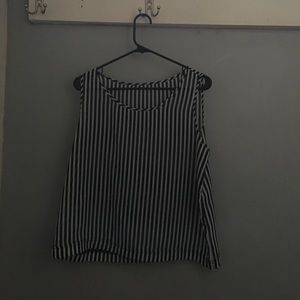 American Apparel black and white stripe tank