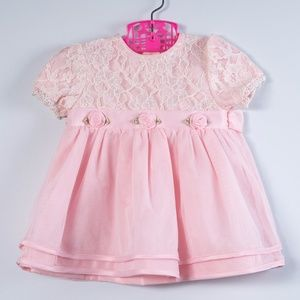 Other - Baby Girls Rosette Accent Dress