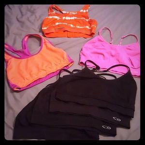 Bundle / lot of 7 champion sports bras size large