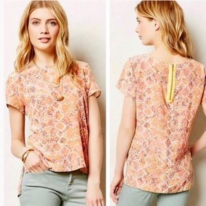 Anthropologie Flynn & Rose Silk Blouse