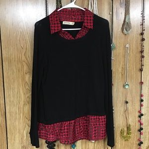 Black and red sweater