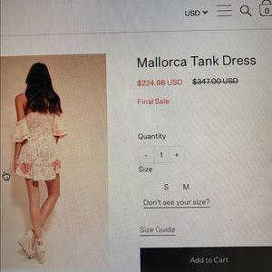 For Love & Lemons Mallorca Tank Dress size small