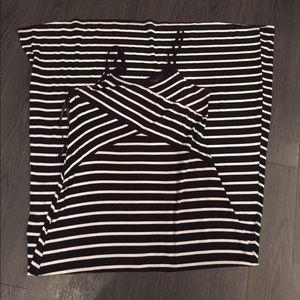 Sexy Striped Maxi Dress