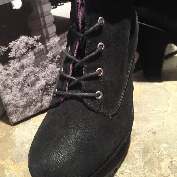 1cc95676175 Blowfish Shoes -  Blowfish  VANCE Black lace-up ankle boots booties