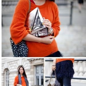 Burnt orange mohair sweater