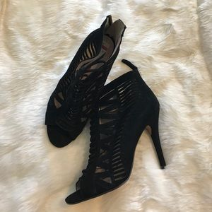 Nine West lace up black heeled sandal