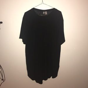Oversized ribbed t shirt H&M Sz L