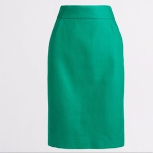 "J. Crew ""The Pencil Skirt"" in Dublin Green"
