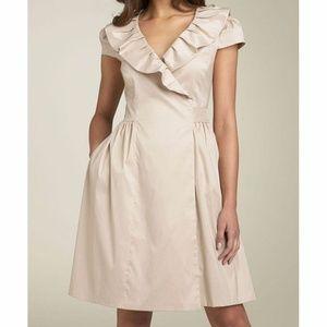 NWT Suzi Chen Khaki Ruffle Belted Wrap Dress
