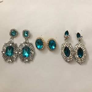 Jewelry - Set of Baby Blue Earrings • 3 Earrings 1 Price