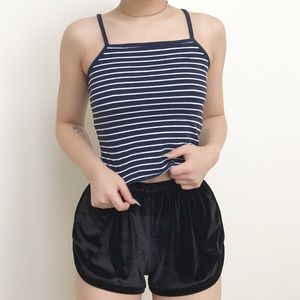 brandy melville striped crop tank top