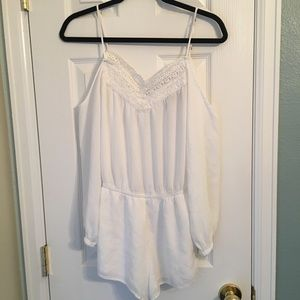 White romper from Forever 21