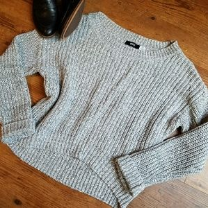 BDG Grey Cropped Knit Sweater
