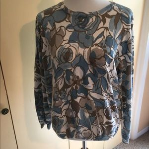 Alfred Dunner size L beautiful patterned sweater