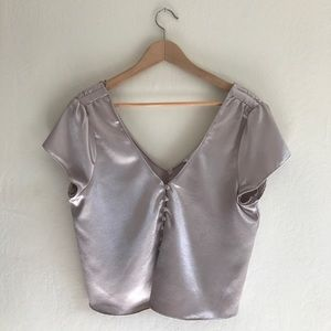 Zara Silky Button Up Top size M