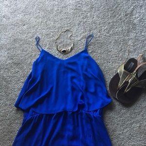 Mossimo flounce top blue chiffon maxi dress
