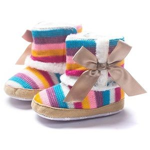 Other - Rainbow Striped Boots