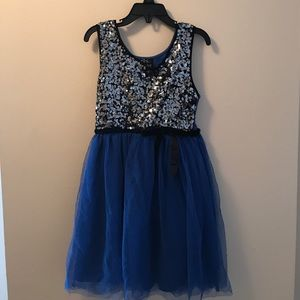 Other - Blue and Sequin girls dress size 7
