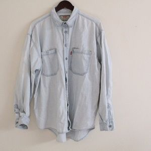 Levi's Vintage 90's Light Wash Denim Button Down