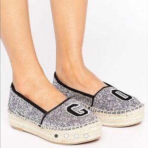 ASOS Glitter Shoes Espadrilles