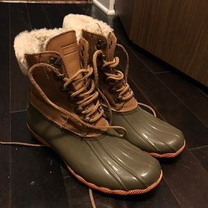 Sperry for J Crew winter shearling lined snow boot