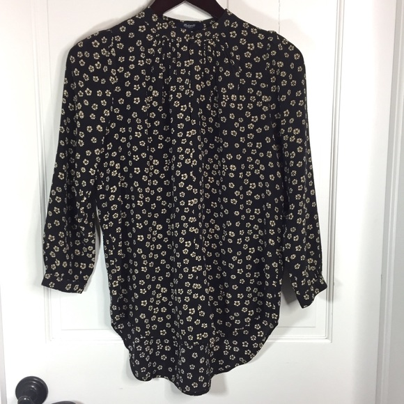bc53ac50cd892a Madewell Tops | Silk Memory Blouse In Stencil Blossom S | Poshmark