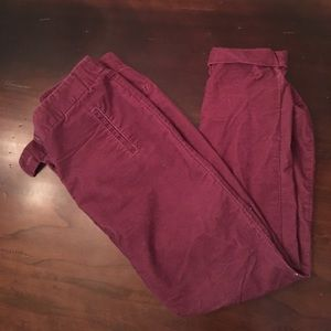LOFT Plum Corduroy Pants