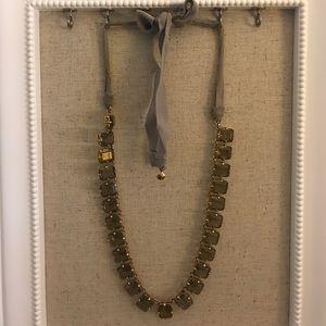 J. Crew Gray Stone Necklace
