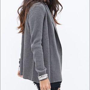 Forever 21 Dark Grey Knit Cardigan