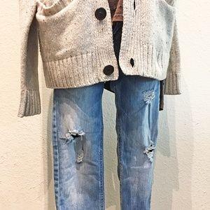Zara Destructed Skinny Jeans