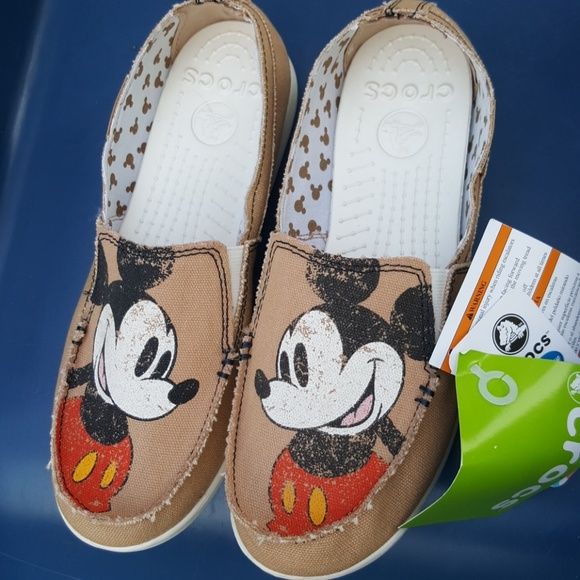 new product pretty cheap half price CROCS Shoes   Mickey Mouse Slide On Canvas Womens 9   Poshmark