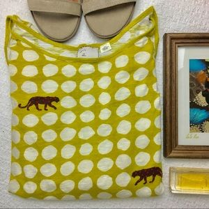 Anthropologie Postmark Panther polkadot Blouse