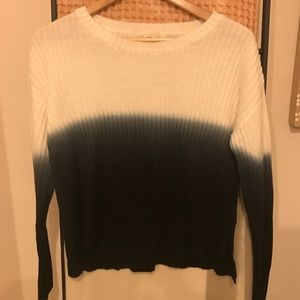 Silence and Noise white to blue ombré sweater