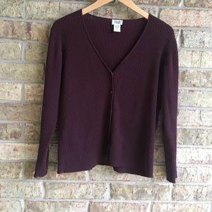 Eileen Fisher Cardigan size Medium Burgundy
