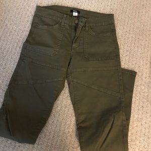 Urban Outfitters Skinny Green Jeans with Zippers