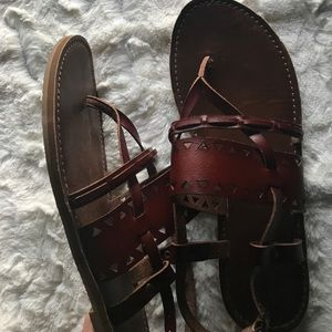 Mossimo Maroon Sandals