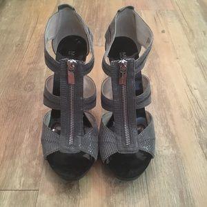 Michael Kors Berkley T-Strap Sandal, Pewter