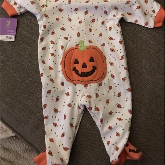 halloween pumpkin sleepers size 0 3 months baby