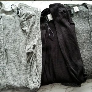 H&M Divided open front cardigan (bundle of 3)