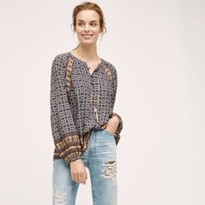 Anthropologie / aubina peasant top